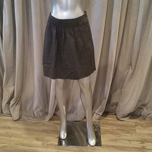 J. Crew grey wool mini skirt 6
